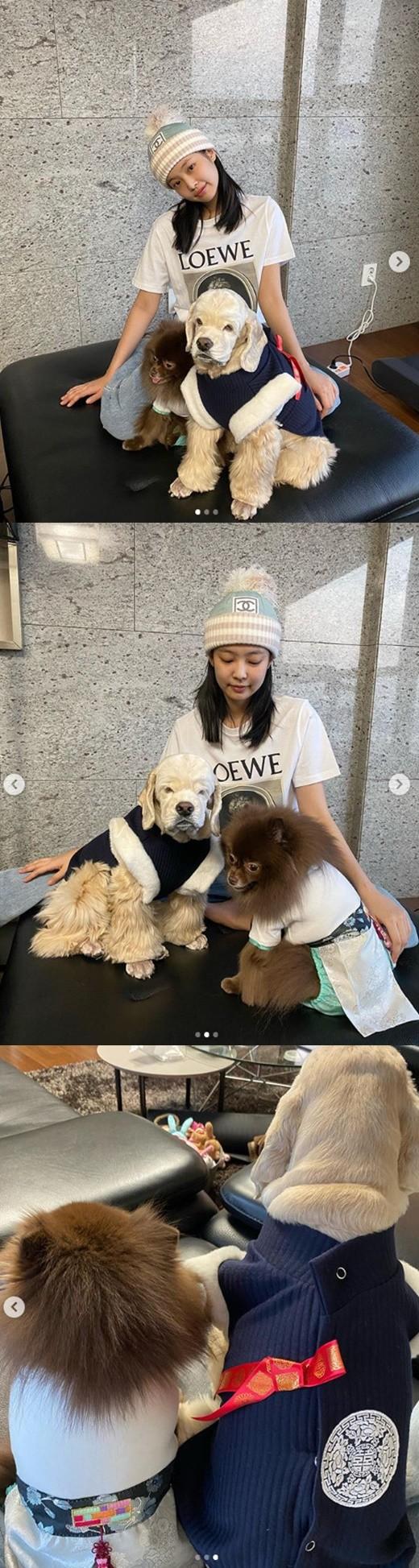 Jennie, köpekleriyle fotoğraf paylaştı