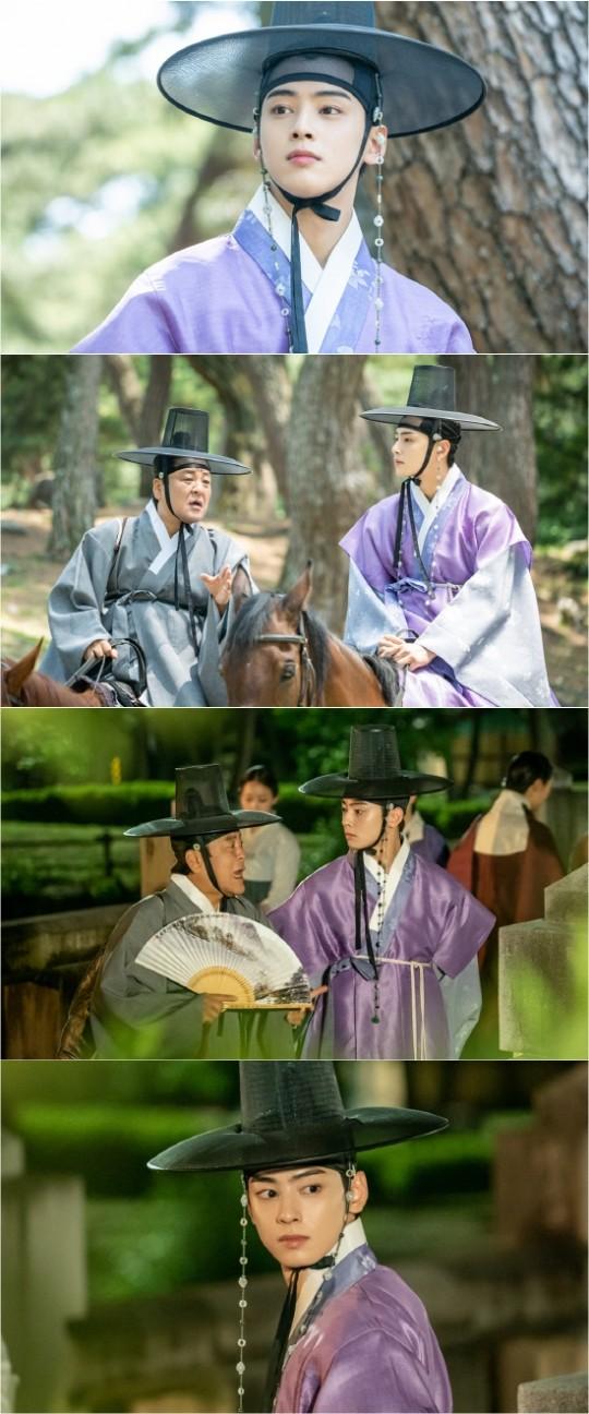 "[K-Drama]: ""Rookie Historian Goo Hae Ryung"" revealed the way Yi Rim (Cha Eun Woo) is heading to Onyang Haenggung Palace."