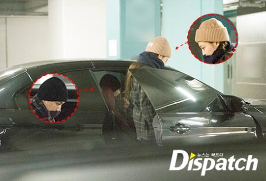 Kai EXO terlihat menjemput Jennie BLACKPINK sebelum keduanya pergi menuju Seoul Sky Park.