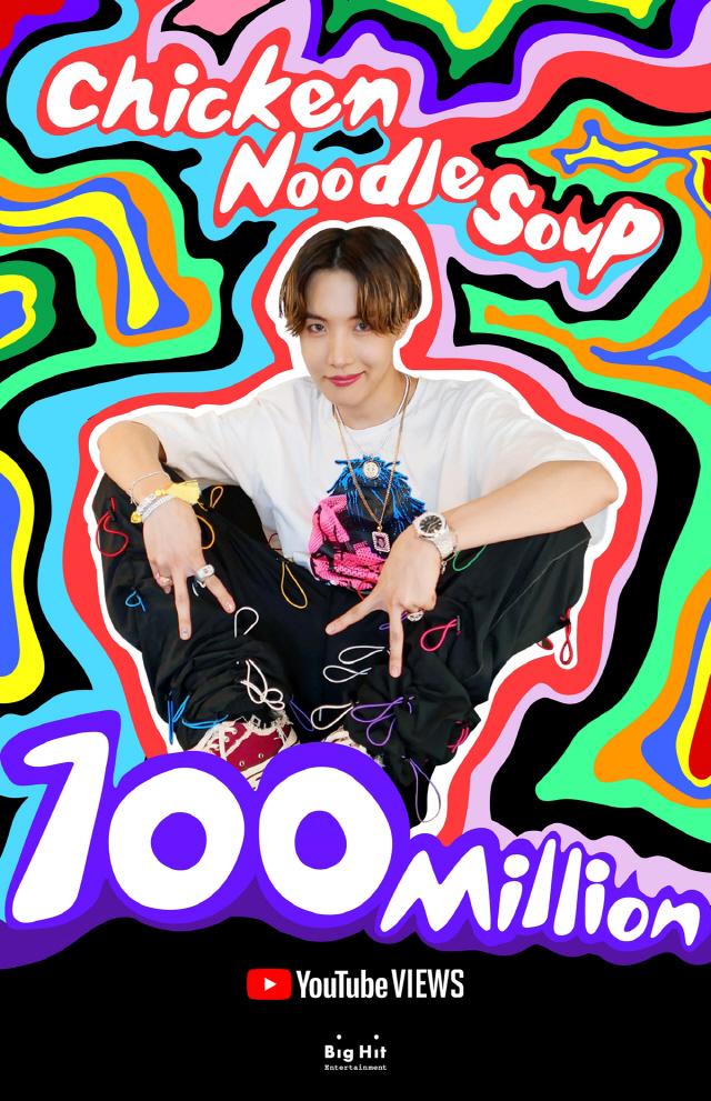[공식]방탄소년단 제이홉, 'Chicken Noodle Soup' 뮤비 1억뷰 돌파