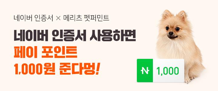 [광고]네이버 인증서 X 메리츠 펫퍼민트 네이버 인증서 사용하면 페이 포인트 1000원 준다멍!